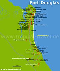 Port Douglas Karte.Cairns Und Port Douglas Queensland Australia Queensland