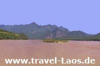 Mekong zwischen Luang Prabang und Vientiane