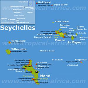 Seychellen Karte