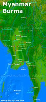 Myanmar-Karte