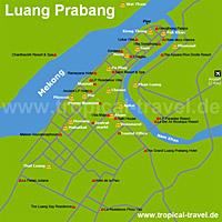 Luang Prabang-Karte