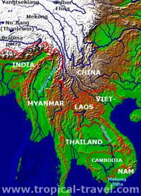 Südostasien-Karte