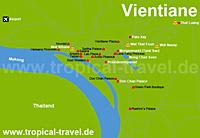 Vientiane-Karte