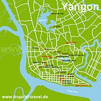 Yangon-Karte