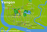 Yangon-Zentrum-Karte