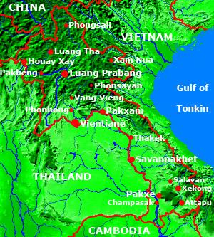 Laos-Karte