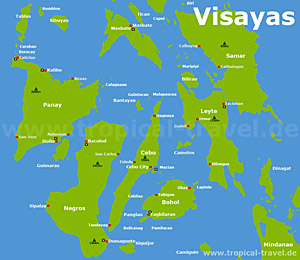 Visayas Karte