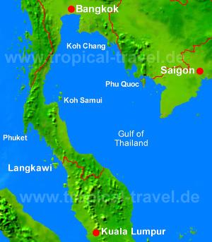 Golf von Thailand Karte