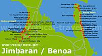 Jimbaran Karte