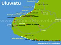 Uluwatu Karte