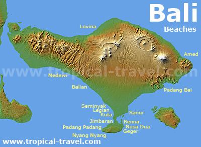 Bali Strände Karte
