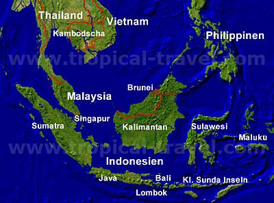 Südostasienkarte