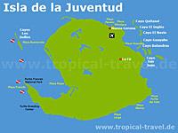 Isla Juventud Karte
