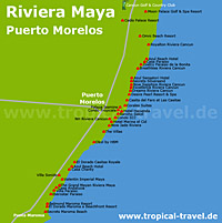 Puerto Morelos Karte