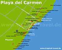 Playa del Carmen Karte