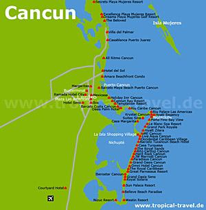 Cancun Karte