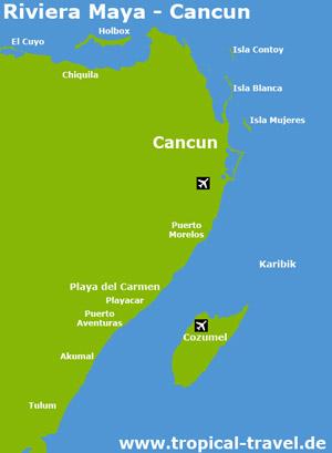 Riviera Maya Karte