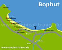 Bophut Beach Karte