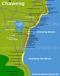 Chaweng Beach Karte