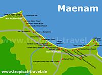Maenam Beach Karte