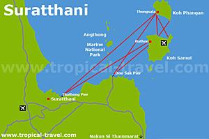 Suratthani Karte