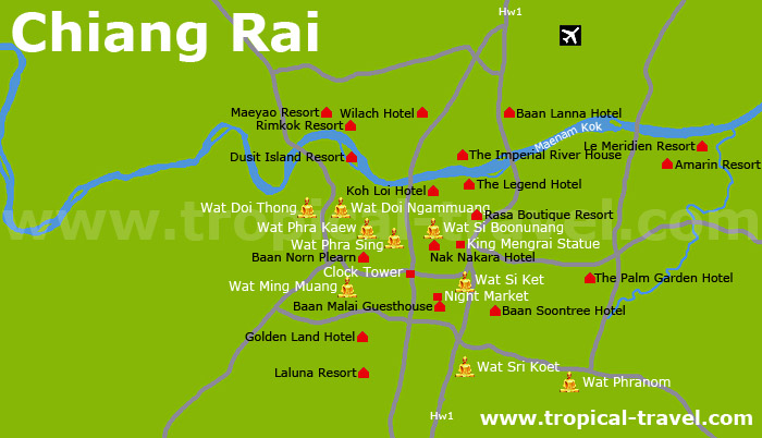 Chiang Rai Karte