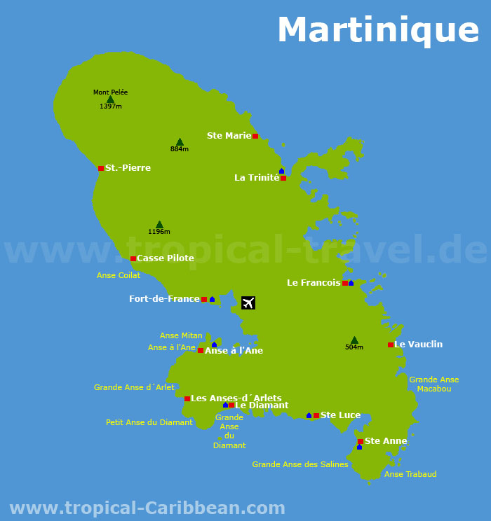Martinique Karte