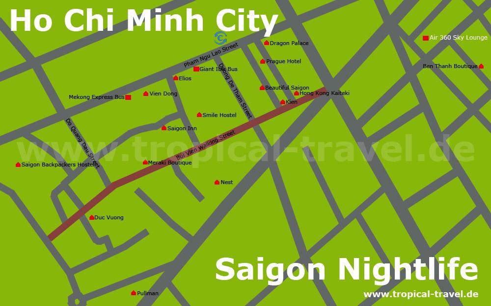 Saigon Zentrum Karte