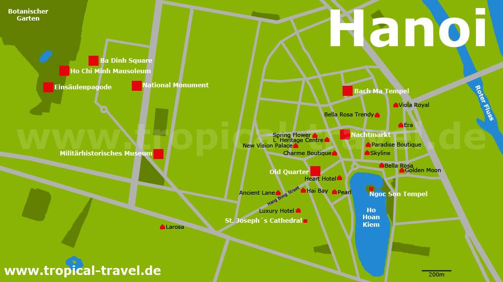 Hanoi Zentrum Karte