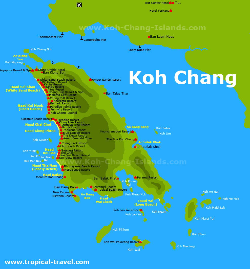 Koh Chang Thailand getting there hotel booking