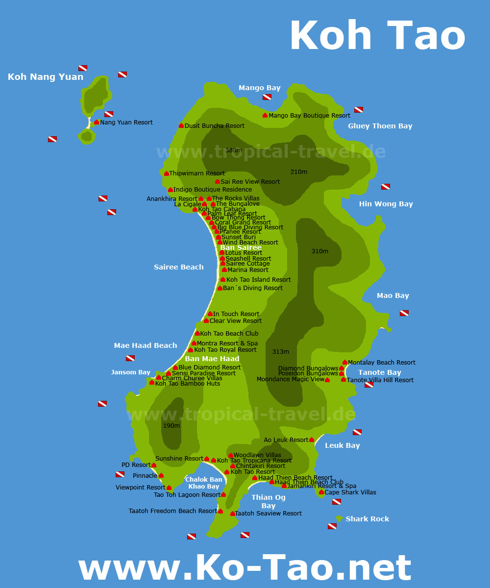 Koh Tao Thailand getting there hotel booking