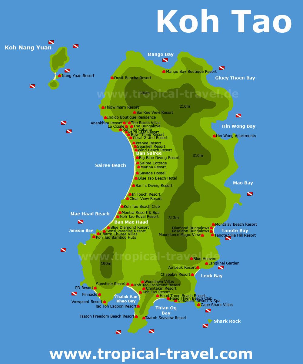 Insel Und Hotelkarten Reiseinformationen Thailand