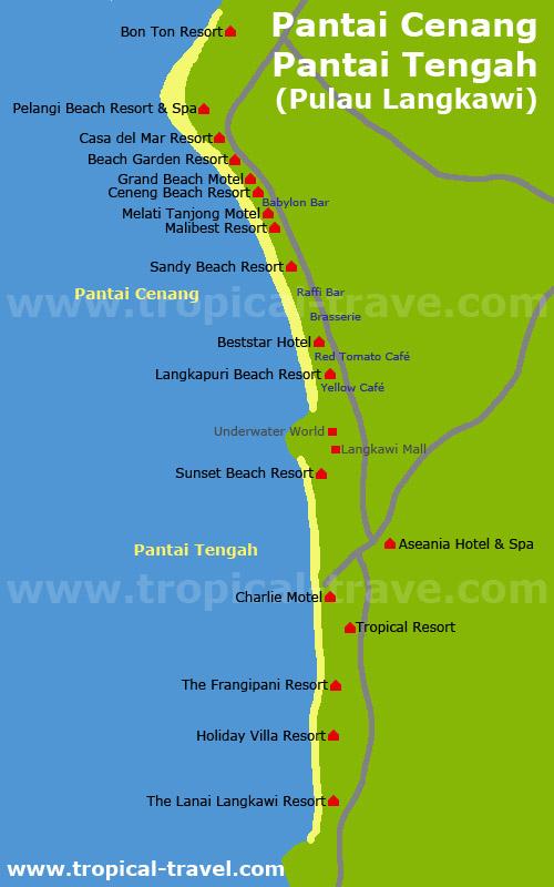 Cenang Beach Karte