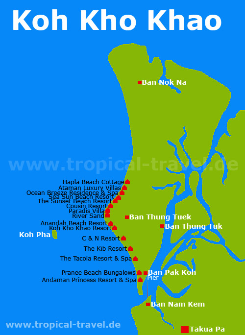 Koh Kho Khao map