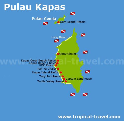 Pulau Kapas Karte