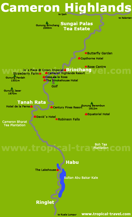 Cameron Highlands Karte