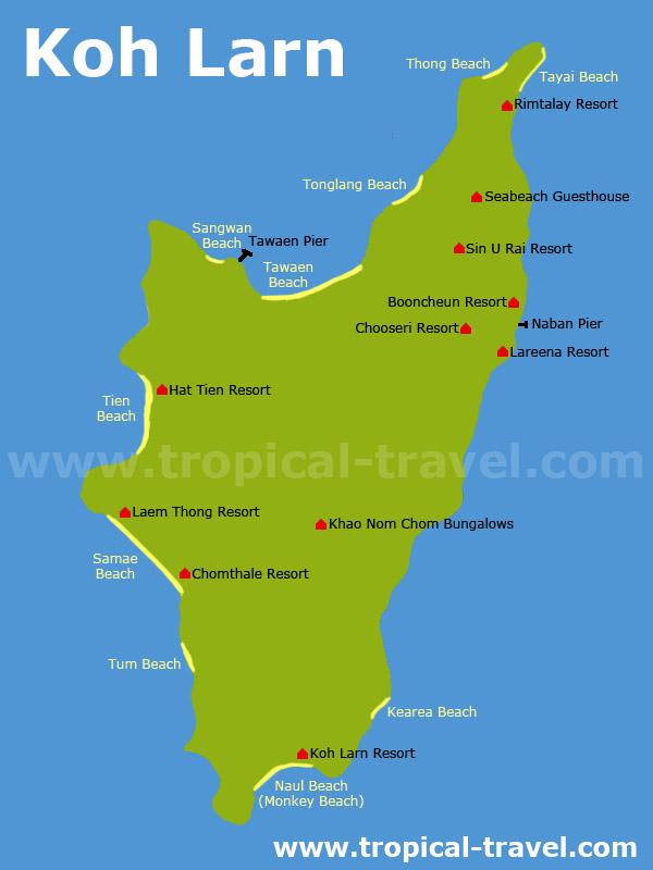 Koh Larn map