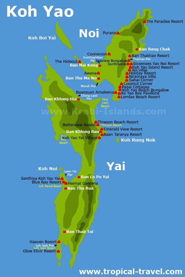 Insel- Und Hotelkarten