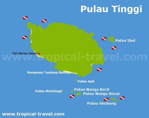Pulau Tinggi Karte