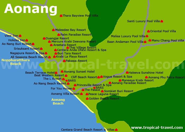 Aonang Karte