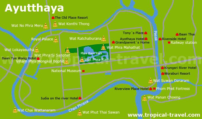 Ayutthaya Karte
