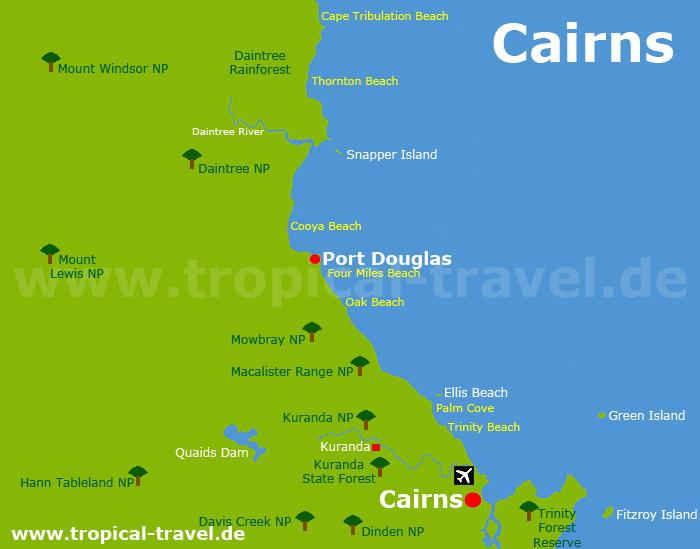 Port Douglas Karte.Cairns Und Port Douglas Queensland S Regenwalder Und Das