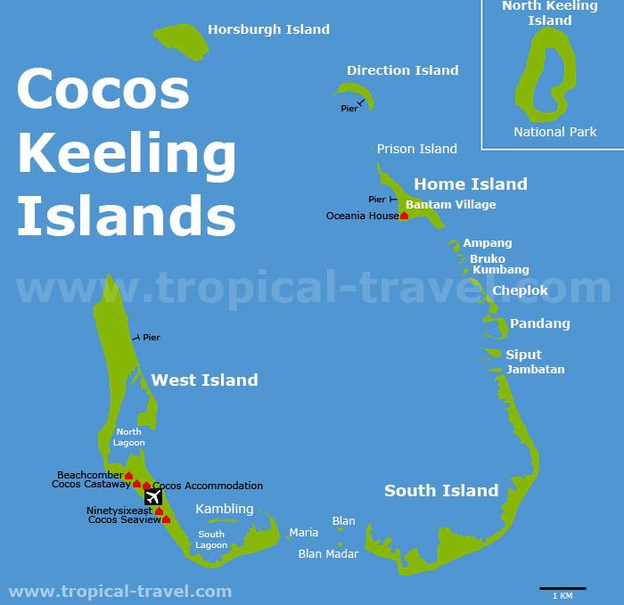 Cocos Keeling Islands Karte
