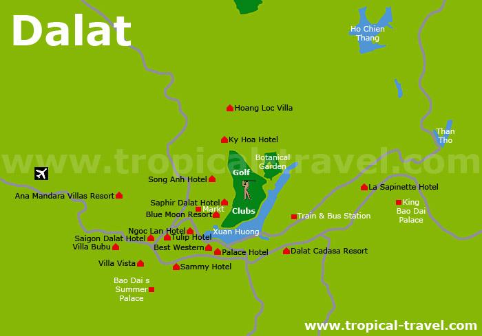 Dalat Karte