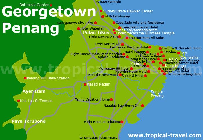 Georgetown Karte