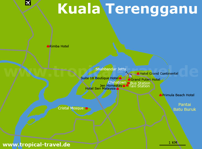 Kuala Terengganu Karte