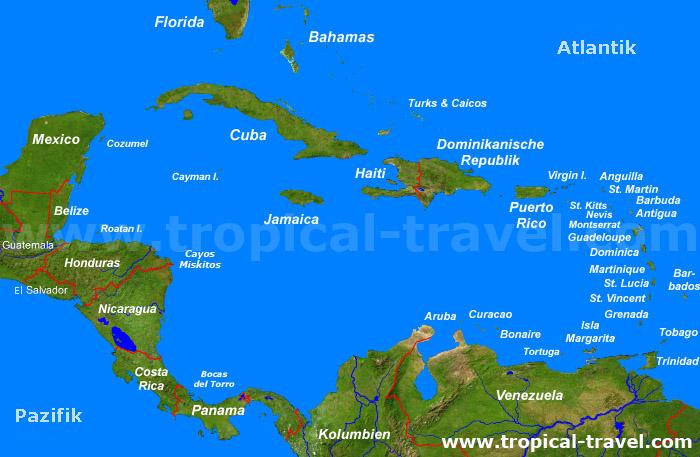 karibische inseln karte Die Karibik | entdecken Sie die karibischen Inseln und Länder