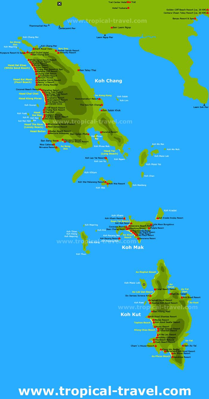 Koh Chang islands Karte