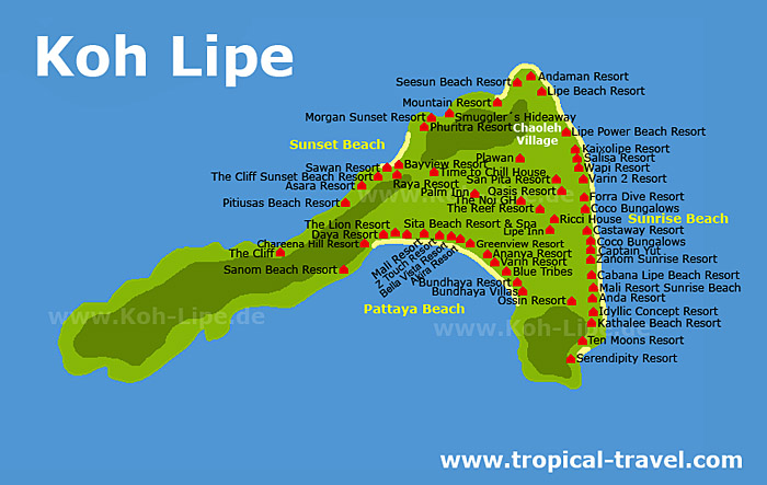 Koh Lipe map