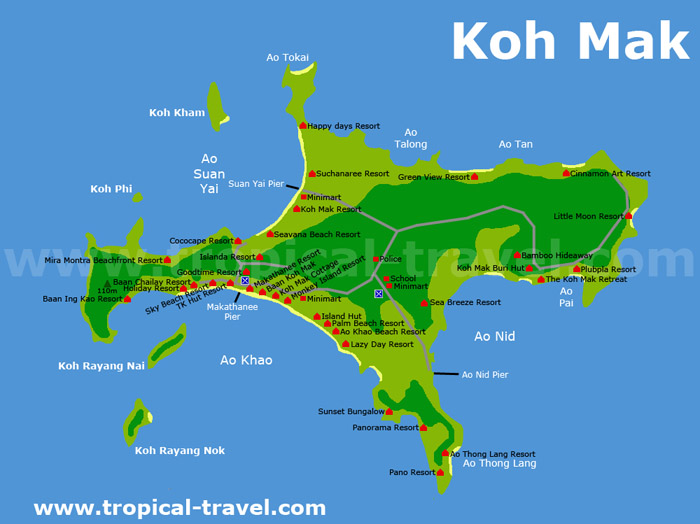 Koh Mak Ko Maak Thailand getting there hotel booking